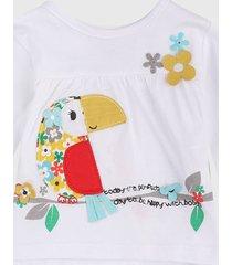camiseta manga larga blanco-multicolor boboli