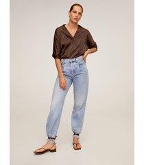 soepelvallende blouse met print