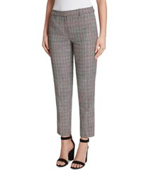 tahari asl plaid ankle pants