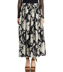 dries van noten borcade midi skirt