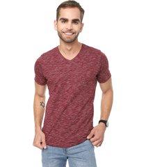 camiseta vinotinto-blanco colore