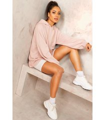 mix and match edition longline hoodie, stone