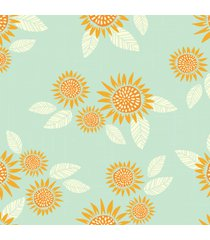 papel de parede girassol minimalista 57x270cm - multicolorido - dafiti