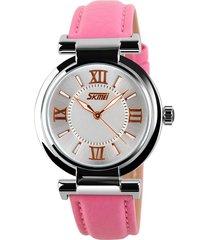 orologio di cuoio casuale di vigilanza skmei per le donne