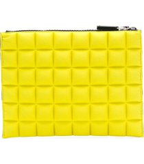 no ka' oi chocolate bar quilted pouch - yellow