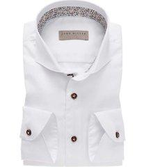 john miller mouwlengte 7 overhemd wit tailored fit