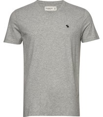 icon vee t-shirts short-sleeved grå abercrombie & fitch