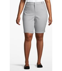 lane bryant women's chino bermuda short 14 sleet