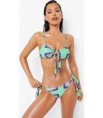 nautisch bikini broekje met zijstrikjes, green