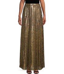 snakeskin-print silk-blend midi skirt