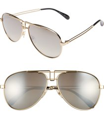 givenchy 61mm aviator sunglasses in gold at nordstrom