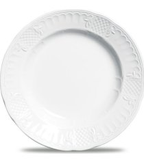 conjunto de pratos fundo venezia porcelana 6 peças branco verbano