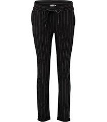 broek pinstripe zwart