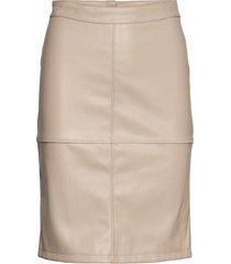 vipen new skirt-fav knälång kjol creme vila