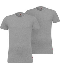 levi's 2-pack t-shirts men solid crew - grijs