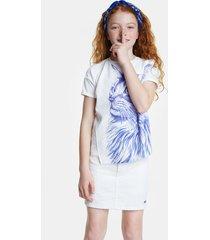 bolimania cat t-shirt - white - 7/8