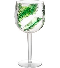 conjunto 6 taças acrílico leaf verde 495ml