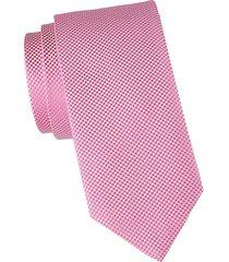 jacquard grid silk-blend tie