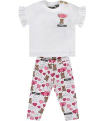 moschino white babygirl suit with teddy bears and balloons
