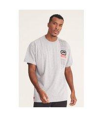 camiseta ecko plus size estampada cinza mescla
