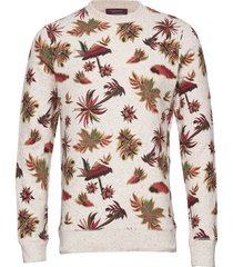 all-over printed sweat in neps felpa quality sweat-shirt tröja multi/mönstrad scotch & soda