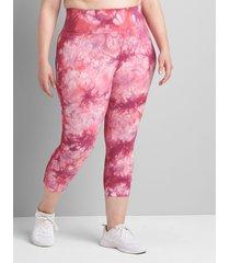 lane bryant women's livi high-rise signature stretch capri legging 34/36 boysenberry