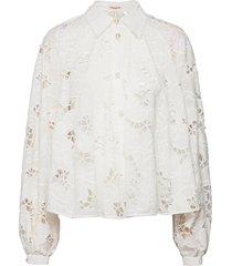 betsy långärmad skjorta vit custommade