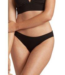 billabong sol searcher lowrider bikini bottoms, size x-large in black pebble at nordstrom