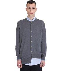 loewe cardigan in grey wool