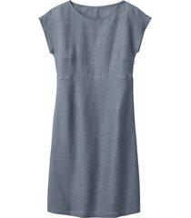 linnen jurk, rookblauw 42