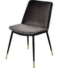 krzesło welurowe stone dark grey