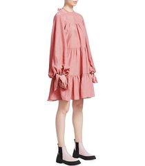 oversized tiered gathered dress