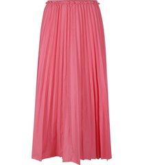 red valentino plain pleated skirt