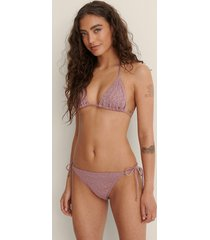 na-kd swimwear bikiniunderdel med snörning i sidan - pink