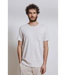t-shirt natural botone masculina - masculino