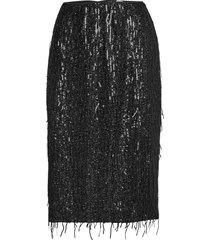 alpina skirt 12784 knälång kjol svart samsøe samsøe
