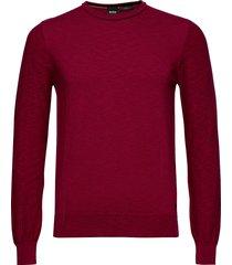 amiox stickad tröja m. rund krage röd boss