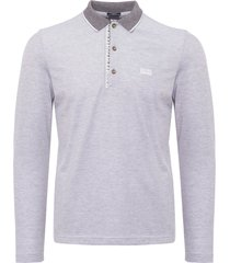 boss athleisure medium grey pleesy 4 long sleeve polo shirt 50379127-031