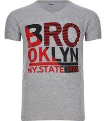 camiseta brooklyn color gris, talla s
