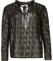 transparante blouse riva  zwart
