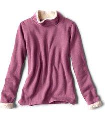 mockneck sherpa-lined sweatshirt