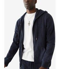 men's horseshoe arch logo zip up hoodie