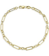 chloe & madison women's 18k gold vermeil paperclip chain bracelet
