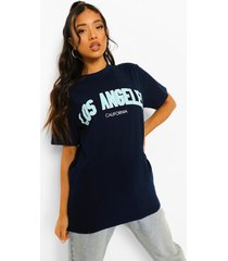 petite los angeles t-shirt, navy