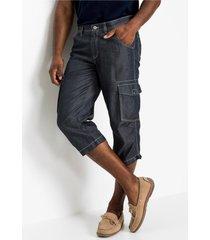 jeans bermuda met linnen