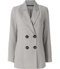 eva double-breasted blazer - grey