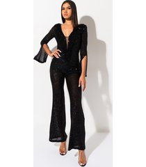 akira she is the one sequin fringe jumpsuit