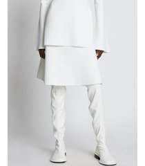 proenza schouler compact knit skirt offwhite xs