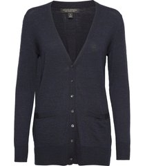 merino long cardigan sweater in responsible wool gebreide trui cardigan blauw banana republic