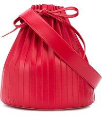 mansur gavriel pleated bucket bag - red